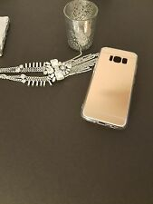 Samsung S8 Cell Phone Case Cover Protector Rose Gold Mirror Reflective