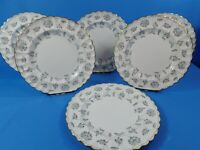 """6 PC SET SPODE COLONEL GRAY 10.25"""" DINNER PLATES Y7144"""