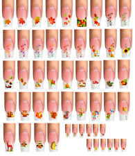 Wraps Nail Tattoos Herbst,Fall,Autumn,Blätter,Igel,Kastanien,Pilz,French,Mix-Pak