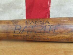 "Vintage 50s Hanna Batrite Wood Baseball Bat HOF Ernie Banks Model No.HF 34"" Cubs"