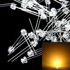 100 pc 5mm Straw hat warm white LED GRANDANGOLO Lampada SPEDIZIONE GRATUITA NUOVO