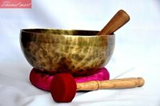 "8"" Amazing Solar Plexus Chakra Tibetan Singing Bowl-Handmade singing bowl, nepal"