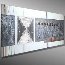 BILDER MALEREI Leinwand MODERN original abstrakt MICO 120x40 KUNST ACRYLBILD