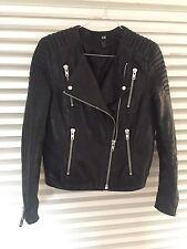 Lederjacke, H&M Trend, Bikerjacke,Jacke New Icons, Premium Collection, 36, Damen