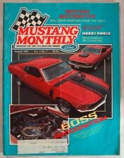 MUSTANG MONTHLY 1981 AUG - ALL ABOUT THE BOSS, MATH