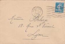 O276 enveloppe affranchissment de SAINT ETIENNE 4 XI 1924 timbre semeuse 25 c bl