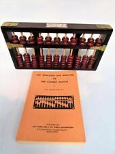VINTAGE CHINESE ABACUS BEAD ARITHMETIC BOARD WITH INSTRUCTION BOOKLET
