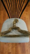 50 Strong Metal Steel Wire Hangers Shirt Clothes Size 15 1/2 inch Bronze color