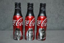 Star Wars The Last Jedi Coca Cola Zero 3 Aluminium Bottles UK 2017 Finn Kylo Rey