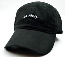 Go Away Novelty Adjustable Cotton Black Cap Dad Hat 3f65bbcc6d97
