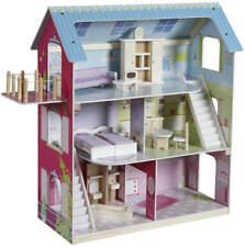 roba Kinder Holz Puppenhaus Puppenstube möbliert 3-stöckig