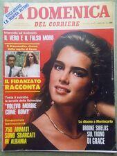 La Domenica del Corriere 16 Ottobre 1982 Shields Papa Wojtyla Agca Bertè Caimi