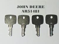(4) JOHN DEERE KEYS, 4 KEYS #AR51481 fits  of John Deere Heavy Equipment