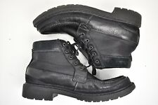CLARKS TUNGSTEN MEN'S BLACK TUMBLE LEATHER BOOT SIZE 10M