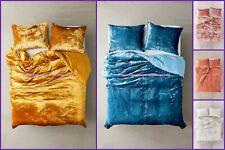 Doona Bedding Bedspread Comforter Ultra Luxe Velvet Crushed Solid Duvet Cover