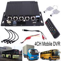 SW-0001A Car Bus RV Mobile SD Remote HD 4CH DVR Realtime Video Audio Recorder