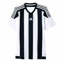 Adidas Fußball Striped 15 Trikot Herren Kurzarmshirt weiß schwarz