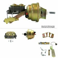 """58-64 Chevy Bel Air Protouring FW Mount Pwr 8"""" Dual Brake Booster Kit Disc/Disc"""