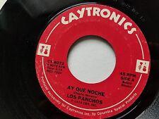 """LOS PANCHOS - Ay Que Noche / Y Llego 1974 LATIN BOLERO 7"""" Caytronics"""
