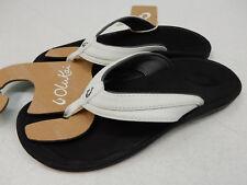 Olukai Womens Ohana White Black Size 9