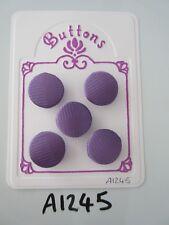 A1245-Lote de 5 Impresión de Color Púrpura Hecho A Mano Botones cubierto de tela del uno mismo