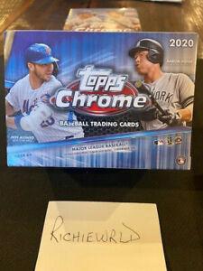 2020 NEW & sealed Topps Chrome  Baseball blaster box- Exclusive SEPIA REFRACTORS