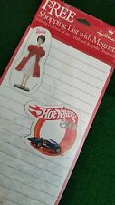 Hallmark 1998 Christmas Shopping List with BARBIE & HOT WHEELS Magnets!