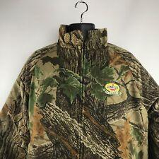 Lined Realtree PENZOIL Outdoors Camo Hunting Heavy Coat Jacket Parka Mens Size L