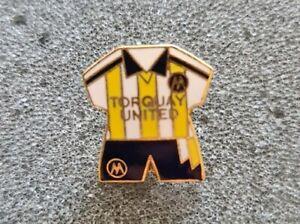 Rare Vintage Torquay United Shirt Pin Badge Brooch