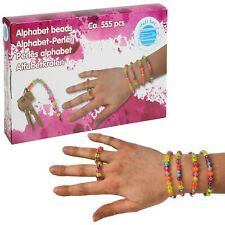 555 PCS Coloured Alphabet Letters Beads Bracelet Necklace Jewellery Making Set