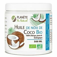 Huile Coco Bio 500ml Vierge Pure et naturelle creme cheveux soin bio nature