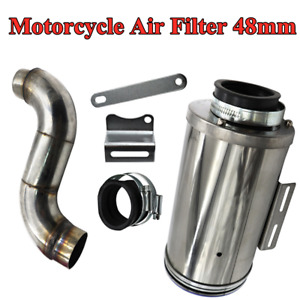 48mm Motorcycle Cleaner Pod Inlet Intake Elbow Air Filter Assembly