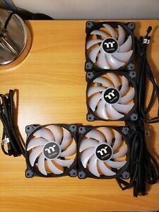 Four Thermaltake TT-1225 PWM RGB Fans