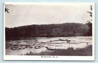 Burtonville, NY - EARLY SMALL TOWN SCENIC VIEW - POSTCARD - E7