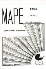 Publicité ancienne landau Mape 1950 issue de magazine