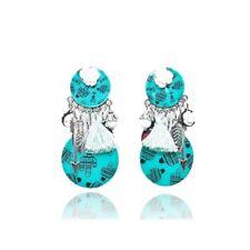 Lol Bijoux - Boucles d'Oreilles Clips - Turquoise - Isabella