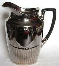 Large Vintage Silverine Devon Ware Queen Anne Jug - Fielding's