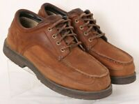 Cabela's 82-2705 Brown Leather Lace-Up Moc Toe Casual Oxfords Men's US 11W
