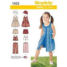 SIMPLICITY SEWING PATTERN CHILD'S DRESS PANTS SHORTS  HATS 3 - 8 1453 ONLY