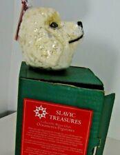 Poodle Dog Blown Glass ✔ Slavic Treasures Mint Box Poland Christmas Shelf