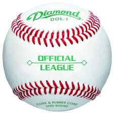 """Diamond Dol-1 Game Full Grain Leather Cover 9"""" Baseballs 1 Dozen"""