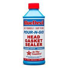 BLUE DEVIL POUR N GO HEAD GASKET SEALER 16OZ seal heater cores, freeze plugs +++