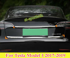 For Tesla Model 3 2017-2019 Stainless Chrome Rear door trunk lid cover trim 2PCS