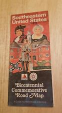 1976 Southeastern United States Bicentennial Commemorative Road Map Citgo Gas