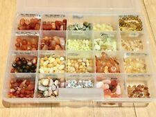 Lot Semi Precious Beads Stones Yellow Opal Botswana Agate Jade Jasper Citrine