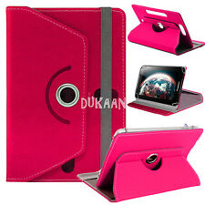 """Universal Flip Fits 360 Rotate Alcatel Pixi 4 (7""""inch) Tablet Leather Case Cover"""