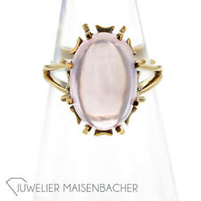 Damen Statement Ring Rosenquarz Ringgröße 52,5