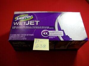BRAND NEW IN BOX SWIFFER WETJET PAD REFILLS-17 ORIGINAL NEW PADS ITEM # 96845808