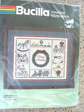 Vintage Christmas Counted Cross Stitch Kit from Bucilla