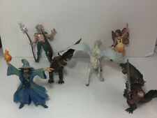 Papo Postoy Fairy Wizard Troglodyte Unicorn Merfolk Fantasy, Mythical - Lot of 6